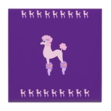Perfectly Pink Poodle Tile Coaster