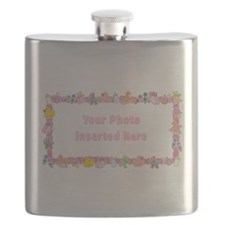 Baby Girl Border Flask