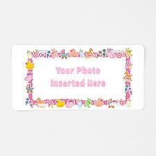 Baby Girl Border Aluminum License Plate