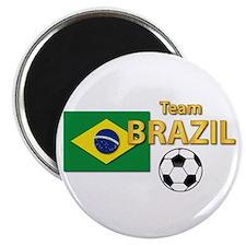"""Team Brazil/Brasil - Socc 2.25"""" Magnet (100 pack)"""