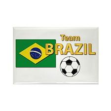 Team Brazil/brasil - Soccer Rectangle Magnets