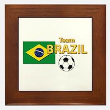 Team Brazil/brasil - Soccer Framed Tile
