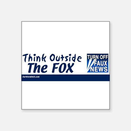 think_outside_the_fox Sticker