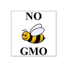 "Unique Gmo Square Sticker 3"" x 3"""