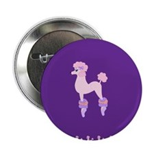 "Perfectly Pink Poodle 2.25"" Button"