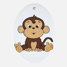 Monkey Ornament (Oval)