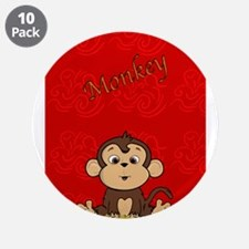 """Monkey with Bananas 3.5"""" Button (10 pack)"""