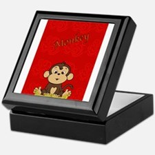 Monkey with Bananas Keepsake Box