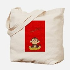 Monkey with Bananas Tote Bag