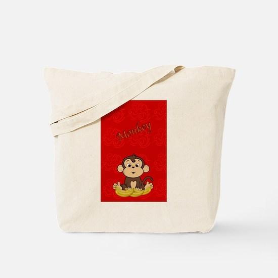 Monkey with Bananas Tote Bag