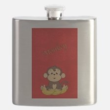Monkey with Bananas Flask