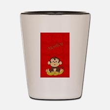 Monkey with Bananas Shot Glass