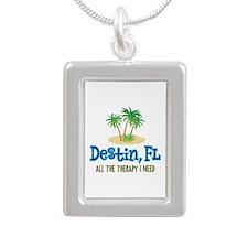 Destin Florida Therapy - Silver Portrait Necklace