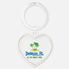 Destin Florida Therapy - Heart Keychain