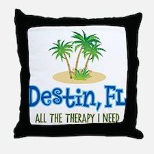 Destin Florida Therapy - Throw Pillow