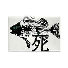 Pthalios Dead Fish Rectangle Magnet