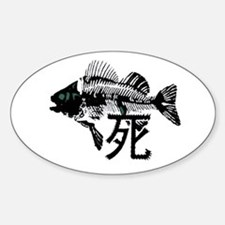 Pthalios Dead Fish Sticker (Oval)