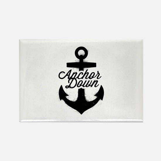 Anchor Down Rectangle Magnet