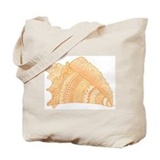 Conch Shell Doodle Art Tote Bag