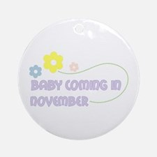 Due in November Ornament (Round)