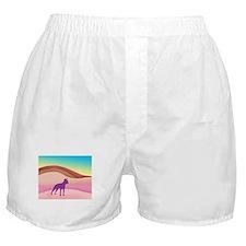 Boston Terrier Retro Hills Boxer Shorts
