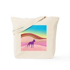 Boston Terrier Retro Hills Tote Bag