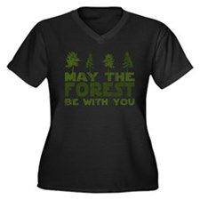 may the forest be with you green Plus Size T-Shirt