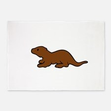 Cute Otter 5'x7'Area Rug