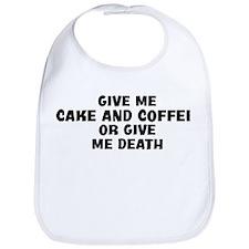 Give me Cake And Coffee Bib