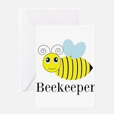 Beekeeper Honey Bee Greeting Cards