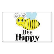 Bee Happy Honey Bee Decal