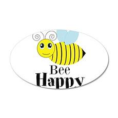 Bee Happy Honey Bee Wall Decal