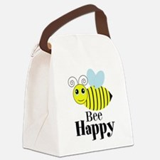 Bee Happy Honey Bee Canvas Lunch Bag