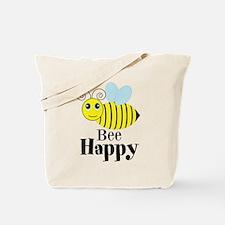 Bee Happy Honey Bee Tote Bag