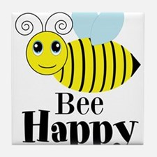 Bee Happy Honey Bee Tile Coaster