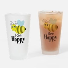 Bee Happy Honey Bee Drinking Glass