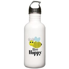 Bee Happy Honey Bee Water Bottle