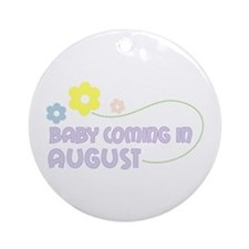 Due in August Ornament (Round)