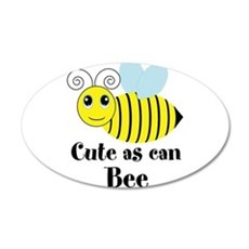 Cute as can Bee Wall Decal