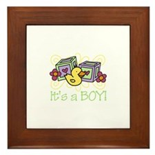 Its A Boy Framed Tile