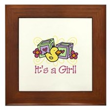 Its A Girl Framed Tile