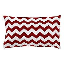 Maroon and White Chevron Stripes Pillow Case
