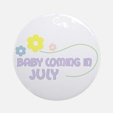 Due in July Ornament (Round)