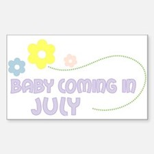 Due in July Rectangle Decal