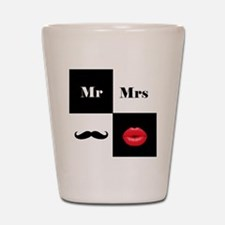 Mr and Mrs Shot Glass