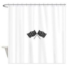 Checkered Flags Shower Curtain