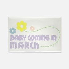 Due in March Rectangle Magnet