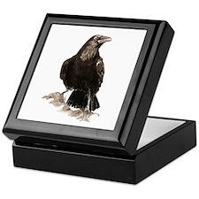 Watercolor Raven Bird Animal Art Keepsake Box