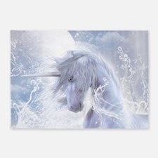 A Dream Of Unicorn 5'x7'Area Rug