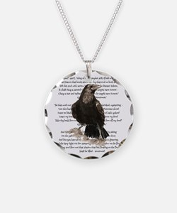 Edgar Allen Poe The Raven Necklace Circle Charm